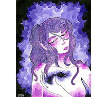 Purple Girl Photographic Print
