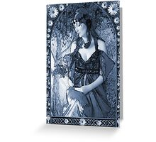 Nouveau in C Greeting Card