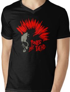 Punks not dead Mens V-Neck T-Shirt