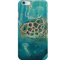Green back turtle iPhone Case/Skin