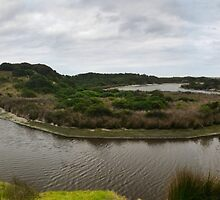 Yellow Rock Lagoon Pano   by Larry Lingard-Davis