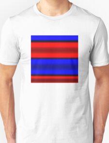 Red & Blue Horizontal Stripes  Unisex T-Shirt
