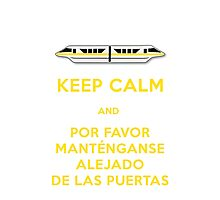 Monorail- Keep Calm (Gold) Photographic Print