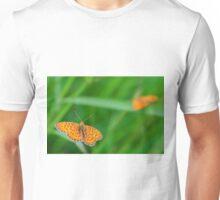 orange butterflies Unisex T-Shirt