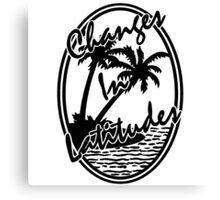 margaritaville changes in latitudes black and white logo jimmy buffett esteh Canvas Print