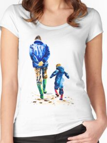 A Walk With Grandad Women's Fitted Scoop T-Shirt