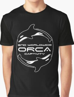 End Worldwide Orca Captivity Graphic T-Shirt
