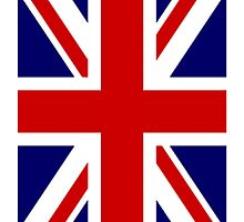 British Union Jack Flag, 2:3 UK, United Kingdom, Portrait by TOM HILL - Designer