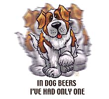 Dog Beers St. Bernard Photographic Print