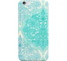 Happy Place Doodle in Mint Green & Aqua iPhone Case/Skin