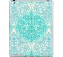 Happy Place Doodle in Mint Green & Aqua iPad Case/Skin