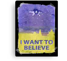 Dude I Want To Believe 14 Canvas Print