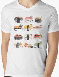 Nekozushi Mens V-Neck T-Shirt