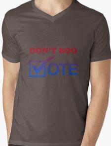 """""""Don't Boo. Vote."""" Mens V-Neck T-Shirt"""