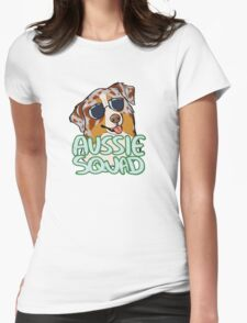 AUSSIE SQUAD (red merle) Womens Fitted T-Shirt