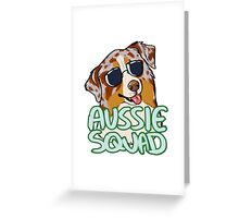 AUSSIE SQUAD (red merle) Greeting Card