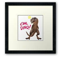 the coolest dino Framed Print