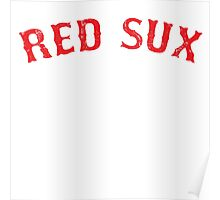 Vintage Red Sux - Blue Poster