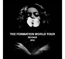 beyonce the formation world tour 2016 black tshirt esteh Photographic Print