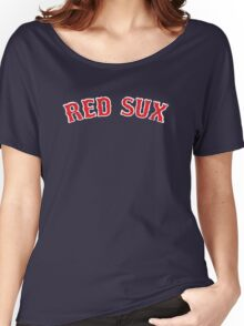 Vintage Red Sux - Blue Women's Relaxed Fit T-Shirt