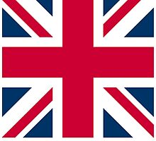 British Union Jack Flag, square UK, United Kingdom by TOM HILL - Designer