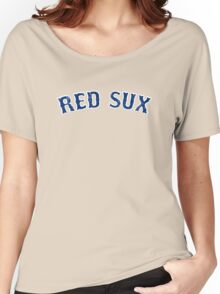 Vintage Red Sux - Red Women's Relaxed Fit T-Shirt