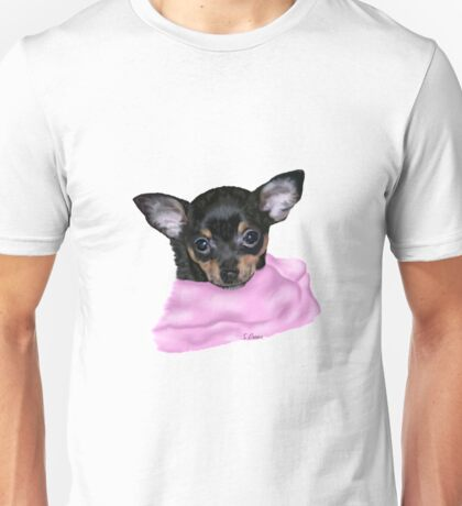 Cute Chihuahua Puppy Portrait No Background Unisex T-Shirt