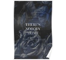 Dark Blue Floral Quotes Poster