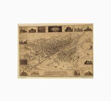 Vintage Pictorial Map of Denver CO (1881) Unisex T-Shirt