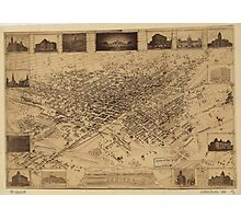 Vintage Pictorial Map of Denver CO (1881) Photographic Print