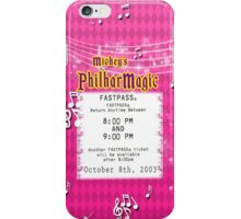 Mickey's Philharmagic Fastpass iPhone Case/Skin