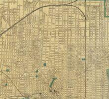 Vintage Map of Detroit Michigan (1895) Sticker