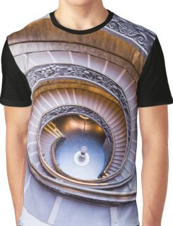 Vatican Museum Staircase Graphic T-Shirt