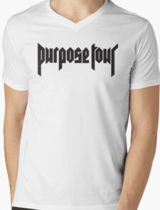 Purpose World Tour - Purpose Tour T-shirt Mens V-Neck T-Shirt