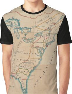 Vintage Map of British Forces in America (1766) Graphic T-Shirt