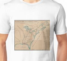 Vintage Map of British Forces in America (1766) Unisex T-Shirt