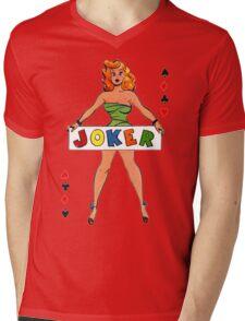 Joker Girl Mens V-Neck T-Shirt