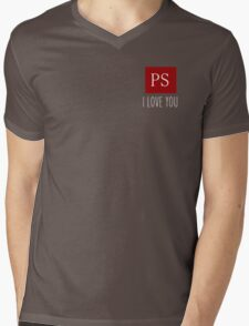 PS I Love You Couple Love Gift Geeky Valentine  Mens V-Neck T-Shirt