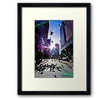 WINGING IT IN NYC Framed Print
