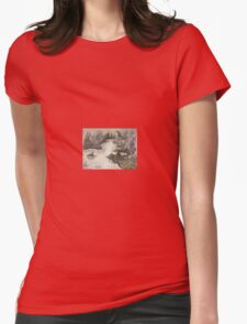 altered landscape Womens Fitted T-Shirt