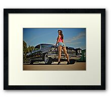 Black Cadillac Framed Print