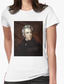 Andrew Jackson American President Womens Fitted T-Shirt