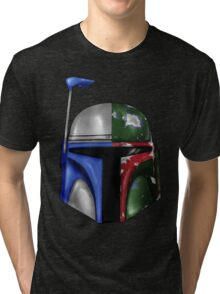 Jango/Boba Fett Helm Tri-blend T-Shirt