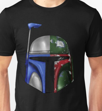 Jango/Boba Fett Helm Unisex T-Shirt