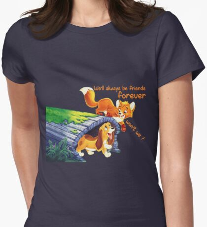 The fox and the hound Womens Fitted T-Shirt