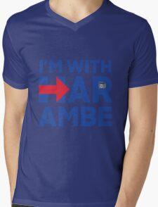I'm With Harambe Mens V-Neck T-Shirt