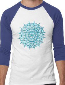 Blue Mandala Men's Baseball ¾ T-Shirt