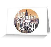new york jimmy fallon Greeting Card