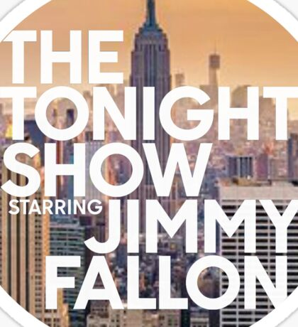 new york jimmy fallon Sticker