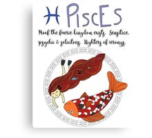 Children's Zodiac - Pisces Girl Canvas Print